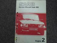1981 1982 Saab 900 Engine 2 Service Repair Shop Manual Factory OEM BOOK