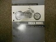 2002 Harley Davidson VRSCA Parts Catalog Manual FACTORY OEM BOOK 02