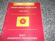 1996 DODGE RAM TRUCK BODY DRIVER AIR BAG SYSTEM Service Manual DIAGNOSTIC OEM