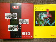 2000 KIA Electrical OBD II Systems Diagnosis Manual Factory Binder