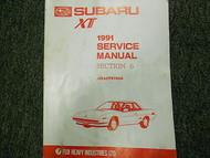 1991 Subaru XT Electrical Wiring Service Repair Shop Manual FACTORY OEM BOOK 91