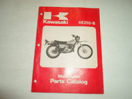1977 1978 Kawasaki KE250-B B1 B2 B3 Parts Catalog Manual WATER DAMAGED FACTORY