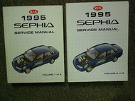 1995 KIA Sephia Service Repair Shop Manual Set 95 Factory OEM