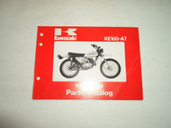 1978 Kawasaki KE100-A7 Motorcycle Parts Catalog Manual WATER DAMAGED FACTORY OEM