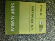 1982 Chevy Chevrolet LUV TRUCK L U V Service Shop Manual Series 12 OEM BOOK