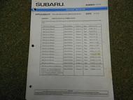 1995 1996 Subaru Service Bulletins Service Repair Shop Manual FACTORY OEM BOOK