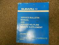 1997 Subaru Service Bulletin Service Repair Shop Manual FACTORY OEM BOOK 97