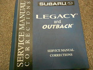 Subaru Legacy Outback Binder Service Repair Shop Binder FACTORY OEM