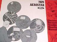 1989 FORD AEROSTAR Electrical Wiring Diagrams Service Shop Repair Manual EWD 89