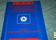 1993 CHRYSLER SALON BODY DIAGNOSTIC PROCEDURE Service Shop Manual OEM 93