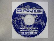 2005 POLARIS DEEP SNOW Service Repair Shop Manual CD FACTORY OEM HOW TO FIX 05