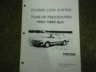 1983-1985 Mazda GLC Tune Up Procedures Service Repair Shop Manual OEM 83 84 85