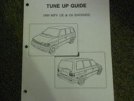 1989 Mazda MPV Van Tune Up Guide Service Repair Shop Manual FACTORY OEM 89