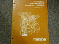 1982 Mazda Piston Engine Overhaul Service Repair Shop Manual FACTORY OEM BOOK 82