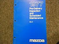 1977 Mazda GLC Pre-Delivery Inspection Maintenance Service Repair Shop Manual 77
