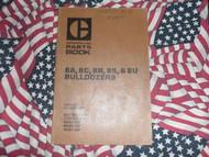 Caterpillar 8A 8S 8U 8C 8R Bulldozer Part Book 1969