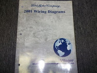2001 Mercury Villager Van Wiring Electrical Shop Manual