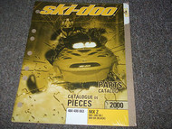 2000 Ski Doo ski-doo SNOWMOBILE MX Z 600 600 SB & BLACK PARTS CATALOG Manual OEM