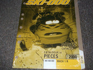 2000 Ski Doo ski-doo SNOWMOBILE MACH 1 R PARTS CATALOG Manual OEM