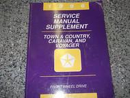 1996 96 PLYMOUTH VOYAGER MINI VAN Service Shop Repair Manual SUPPLEMENT