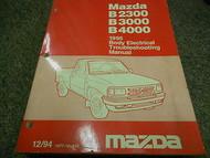 1995 Mazda B-Series Truck Body Electrical Service Repair Shop Manual OEM BOOK 95