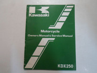 1982 Kawasaki KDX250 Owners Manual & Service Manual FACTORY OEM BOOK 82 WORN