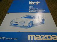 1994 Mazda MX-3 MX3 Body Electrical Service Repair Shop Manual BOOK OEM 94