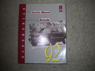 1992 GM Oldsmobile Olds Bravada SUV Service Shop Repair Workshop Manual OEM