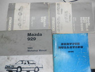 1990 MAZDA 929 Service Repair Shop Manual SET how to FIX OEM 90