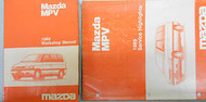 1989 Mazda MPV Service Shop Repair Manual Set FACTORY OEM RARE How to FIX M P V