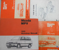 1989 Mazda MPV M P V Service Repair Shop Manual SET FACTORY OEM RARE BOOK 89