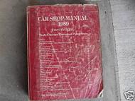 1989 Lincoln CONTINENTAL Service Shop Repair Manual OEM 89 DEALERSHIP 1989