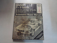 1982 1992 Haynes BMW 3 & 5 Series Automotive Repair Manual WATER DAMAGED FADED