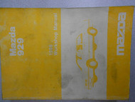 1988 Mazda 929 Service Repair Shop Manual FACTORY OEM RARE BOOK 88