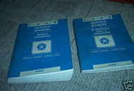 1988 Chrysler Front Wheel Drive Car Service Manual Set