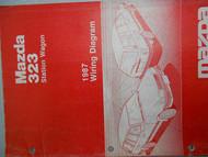 1987 Mazda 323 STATION WAGON Electrical Service Repair Manual FACTORY OEM BOOK