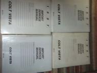 1987 DODGE Colt Vista Service Shop Repair Manual Set FACTORY OEM 87 W LOTS