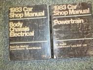 1983 Ford Mercury Grand Marquis Service Repair Shop Manual SET W Powertrain +