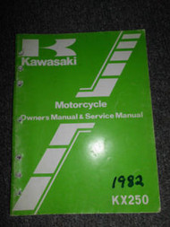 1982 Kawasaki KX250 Repair Service Owners Manual OEM FACTORY Motorcycle WORN