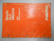1981 Mazda GLC Wagon Service Electrical Wiring Manual Factory OEM RARE BOOK