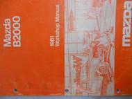 1981 Mazda B2000 B 2000 Service Repair Shop Manual Factory OEM RARE BOOK 81 RARE