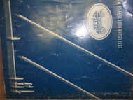 1977 GMC SPRINT Body Service Shop Repair Manual FACTORY OEM