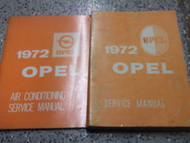 1972 OPEL GT & 1900 Service Shop Repair Manual SET BOOK Factory OEM