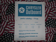 1970 Chrysler Outboard 8 HP Parts Catalog