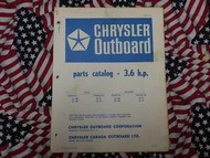 1970 Chrysler Outboard 3.6 HP Parts Catalog 32 33 HB H