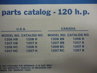 1970 Chrysler Outboard 120 HP Parts Catalog