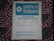 1970 Chrysler Outboard 12.9 HP Parts Catalog 124 125 HA