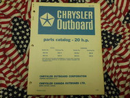 1969 Chrysler Outboard 20 HP Parts Catalog