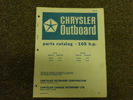 1969 Chrysler Outboard 105 HP Parts Catalog