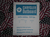 1968 Chrysler Outboard 9.9 HP Parts Catalog